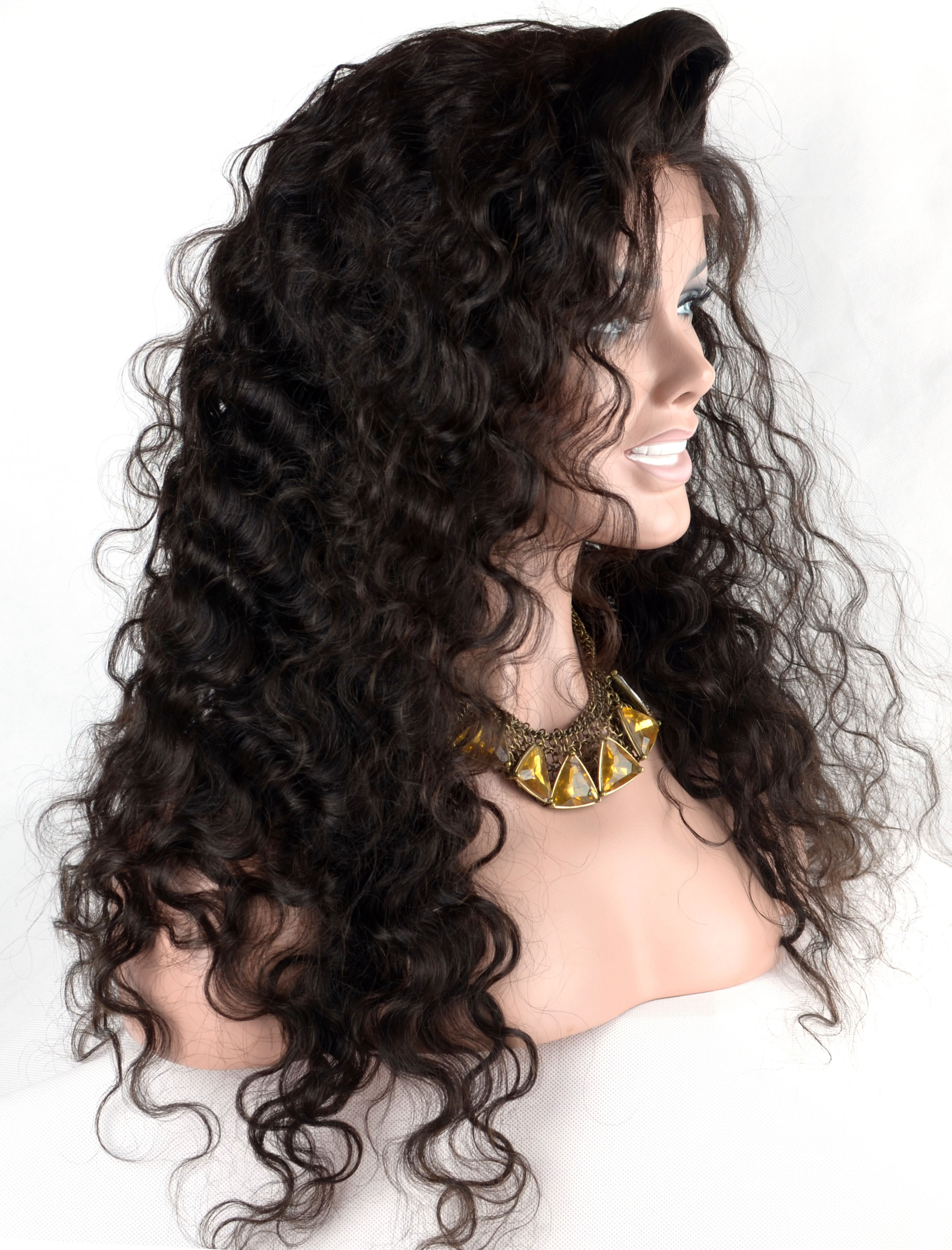 Lace Wigs Virgin Hair Silk Top Full Lace Wig
